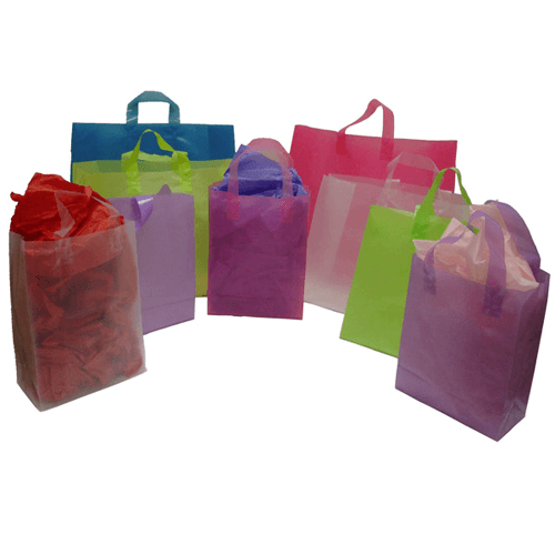 Frosted Handle Bags