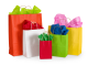 5.25 x 3.5 x 8.25 Colored Paper Shopping Bags 250/cs