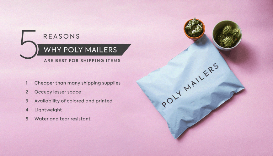 5 Reasons why Poly Mailers are best for Shipping Items